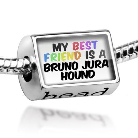 Bead My best Friend a Bruno Jura Hound Dog from Switzerland, France Charm Fits All European