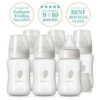 Evenflo Feeding Balance + Wide Neck BPA-Free Plastic Baby Bottles