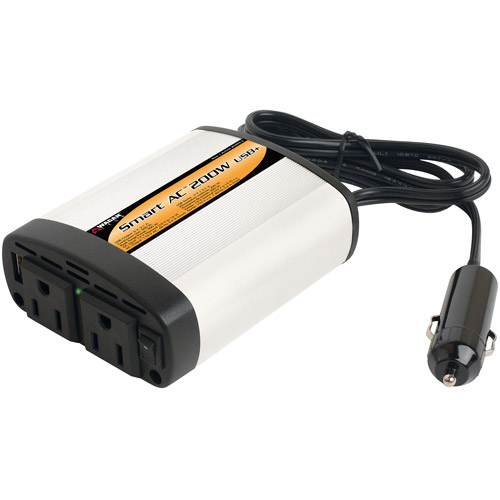Wagan Smart AC 200 USB+ Power Inverter with 5V 2.1A USB, EL2402-5