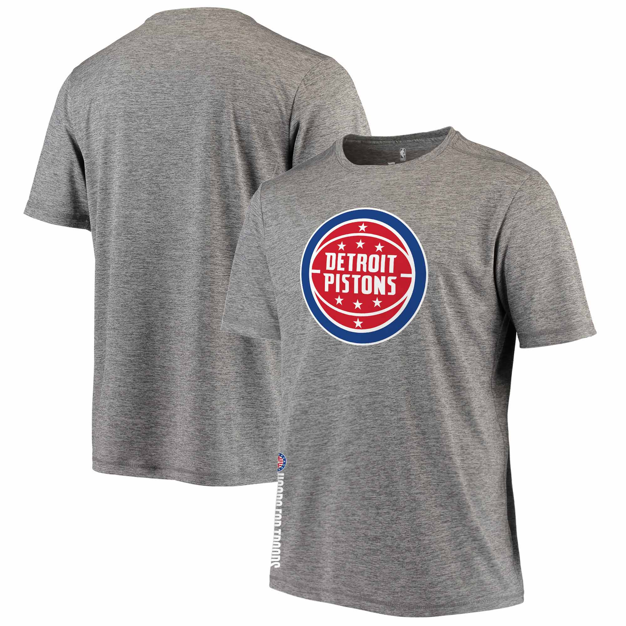 Detroit Pistons Fanatics Branded Hoops For Troops T-Shirt - Heathered Gray