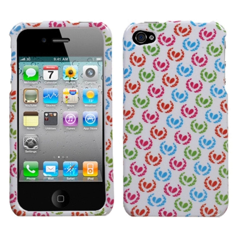 Insten Broken Hearts Case For iPhone 4 4S