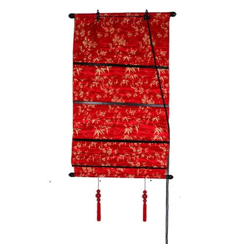 Oriental Furniture Leaves Shang Hai Tan Roman Shade
