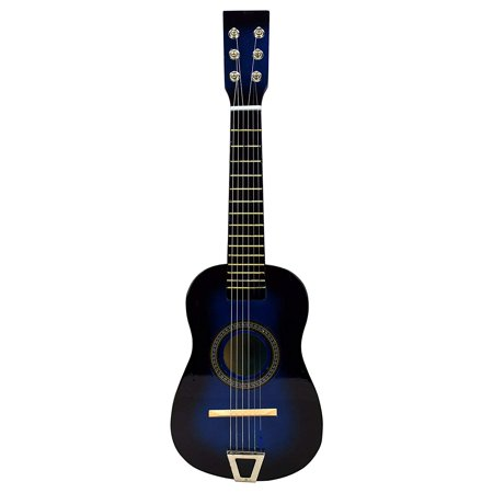 Sleek Shine Classy Blue Classic Acoustic 6 Stringed Toy Musical Guitar Instrument, Great For Starting To Learn Guitar ()