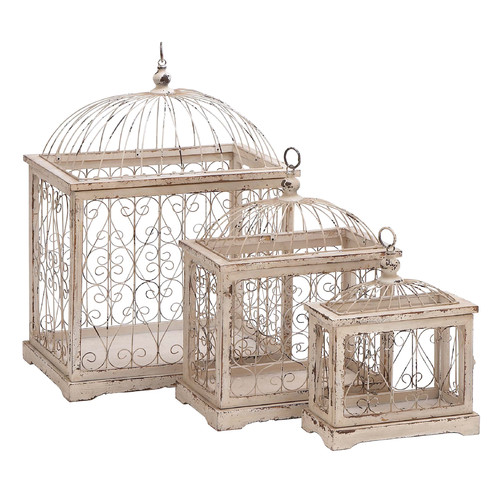 Woodland Imports 3 Piece Decorative Bird Cage