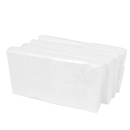 Unique Bargains Car Auto Case 3 Ply White Facial Tissue Wipes Sun Visor Holder Refills 4 Packs