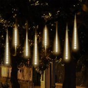 TSV LED Falling Rain Lights with 30cm 8 Tube 144 LEDs, Meteor Shower Light, Falling Rain Drop Christmas Lights, Icicle String Lights for Holiday Party Wedding Christmas Tree Decoration