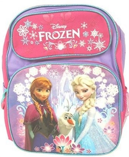"""Disney Frozen Anna and Elsa Large Backpack 16"""" New"""