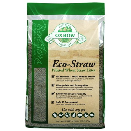 Oxbow Eco-Straw Pelleted Wheat Straw Small Animal Litter, 20 lbs.