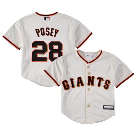 Buster Posey San Francisco Giants Preschool Replica Player Jersey - Cream