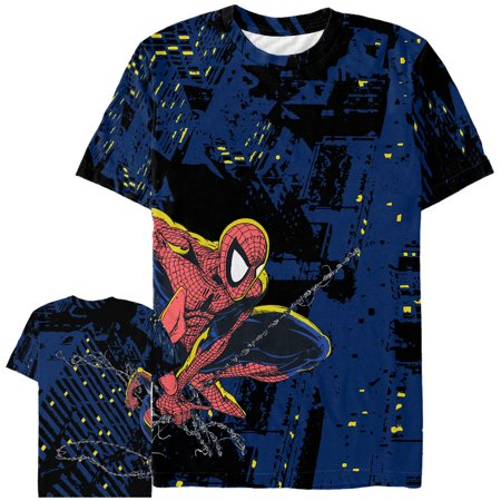 ed1592a60 Marvel - Marvel Men's Spider-Man Night Protector All-Over Print T ...