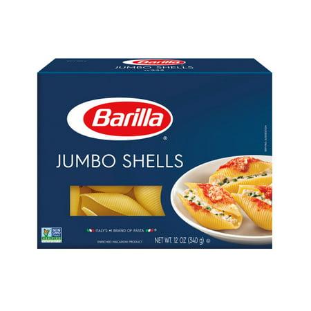 (4 pack) Barilla Pasta Jumbo Shells, 12.0 OZ