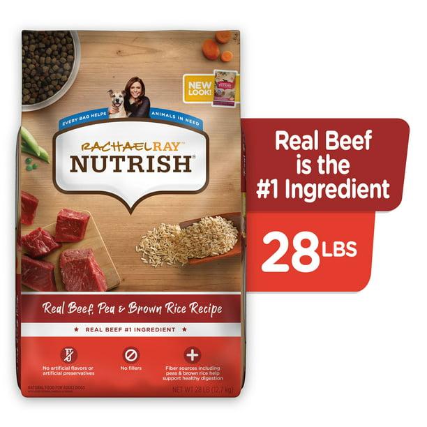 Rachael Ray Nutrish Natural Premium Dry Dog Food, Real Beef, Pea, & Brown Rice Recipe, 28 Lbs