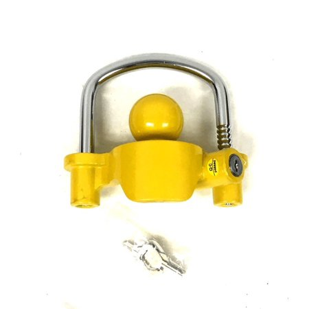 Trailer Coupler Lock Boat Marine RV Tractor Hitch Theft Protection 3 Keys Lock, Trailer coupler lock; Heavy-duty cast steel construction By (Best Way To Lock A Boat Trailer)