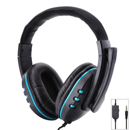 Stereo 3.5mm Wired Over Ear Gaming Headset Headphone for PS4 Xbox One Switch (Best Xbox One Ear Headset)