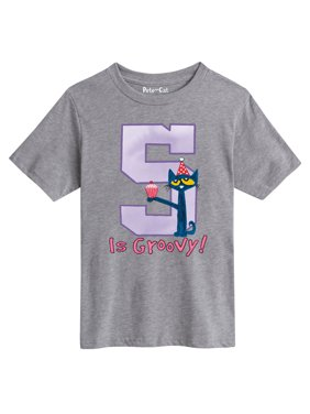 Pete The Cat 5Th Birthday Girls - Youth Short Sleeve Tee
