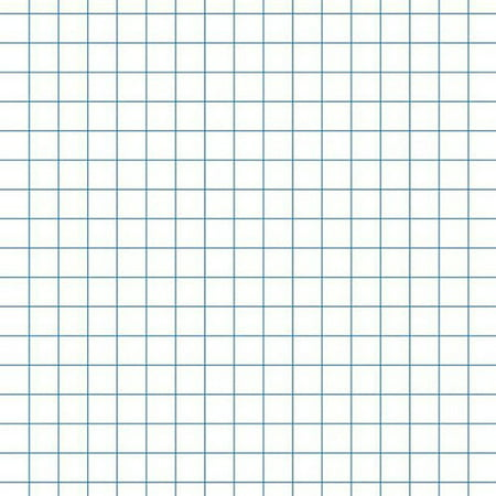 "School Smart 3-Hole Punched Graph Paper with 1"" Rule, 10"" x 10 ..."