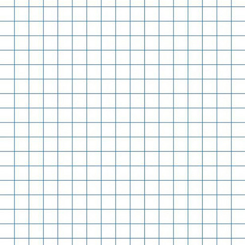 "School Smart 3-Hole Punched Graph Paper with 1"" Rule, 10"" x 10"", White, 500-Pack"