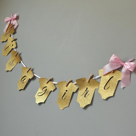 Girl Baby Shower Banner (It's a Girl Banner. Ships in 1-3 Business Days. Baby Shower Party Decor. Baby Girl)