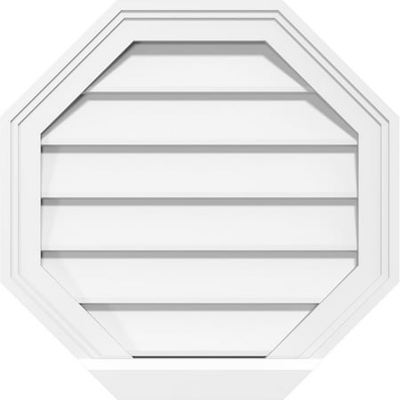 40 W x 40 H Octagonal Surface Mount PVC Gable Vent Non Functional w 2