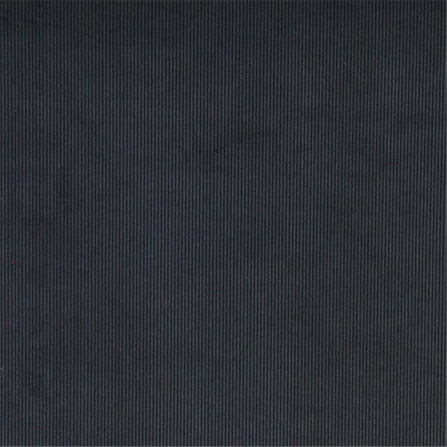 Designer Fabrics C182 54 in. Wide Navy Blue Thin Solid Corduroy Striped Upholstery Velvet Fabric