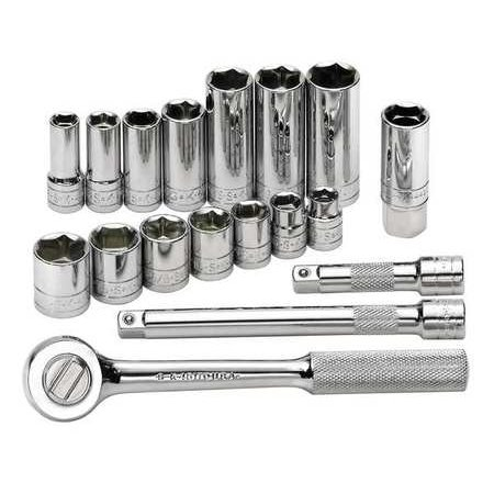 """Sk Professional Tools 3/8"""" Drive, Socket Wrench Set, 94520"""