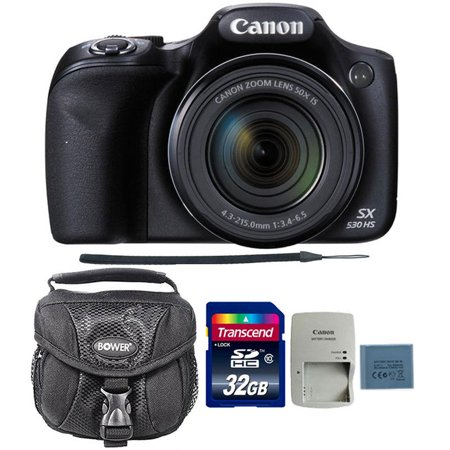Canon PowerShot SX530 HS 16MP Digital Camera with 32GB Accessory Bundle