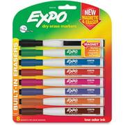 Expo Eraser Cap Fine Magnetic Dry Erase Markers, 8 / Pack (Quantity)