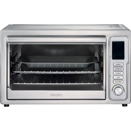 Krups deluxe convection toaster oven stainless steel x x inches for Toaster oven stainless steel interior