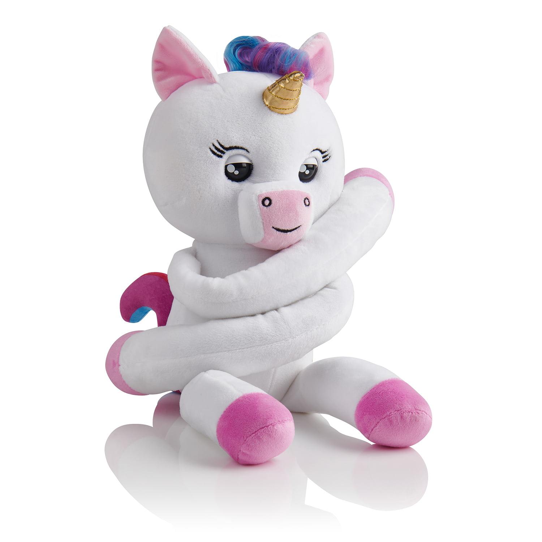 Fingerlings HUGS - Gigi (White) - Advanced Interactive Plush Baby Unicorn Pet - by WowWee