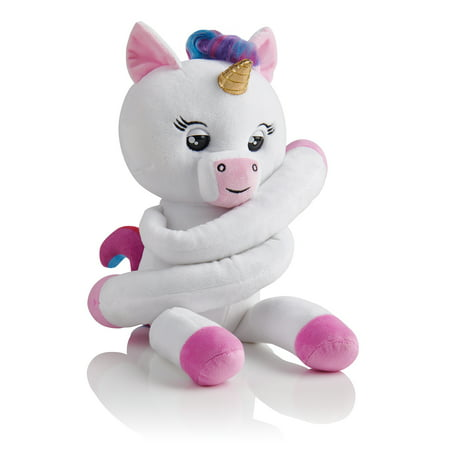 Fingerlings HUGS - Gigi (White) - Advanced Interactive Plush Baby Unicorn Pet - by WowWee
