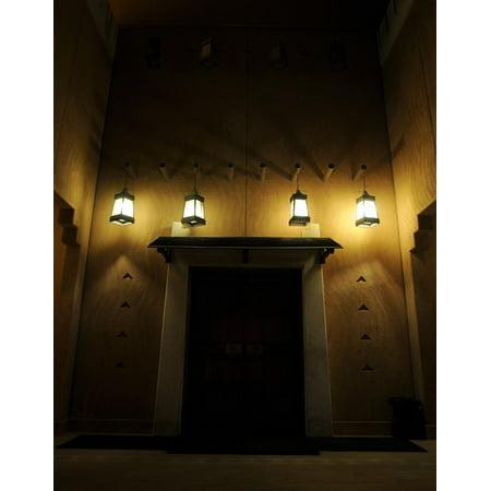 Canvas Print Mud Mud House Saudi Arabia Traditional Dark Lights Stretched Canvas 10 x 14