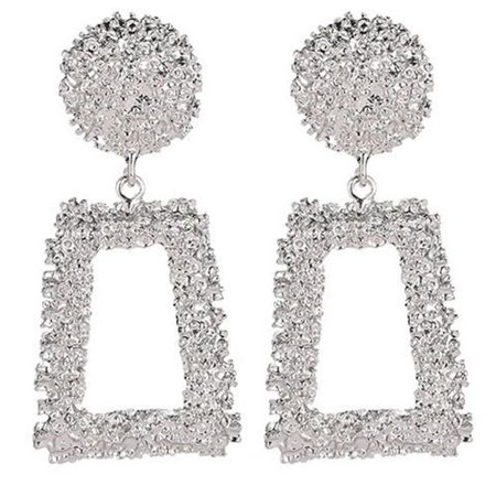 AkoaDa Statement Geometric Drop Earring Metal Embossed Dangle Earring Women Girls Jewelry