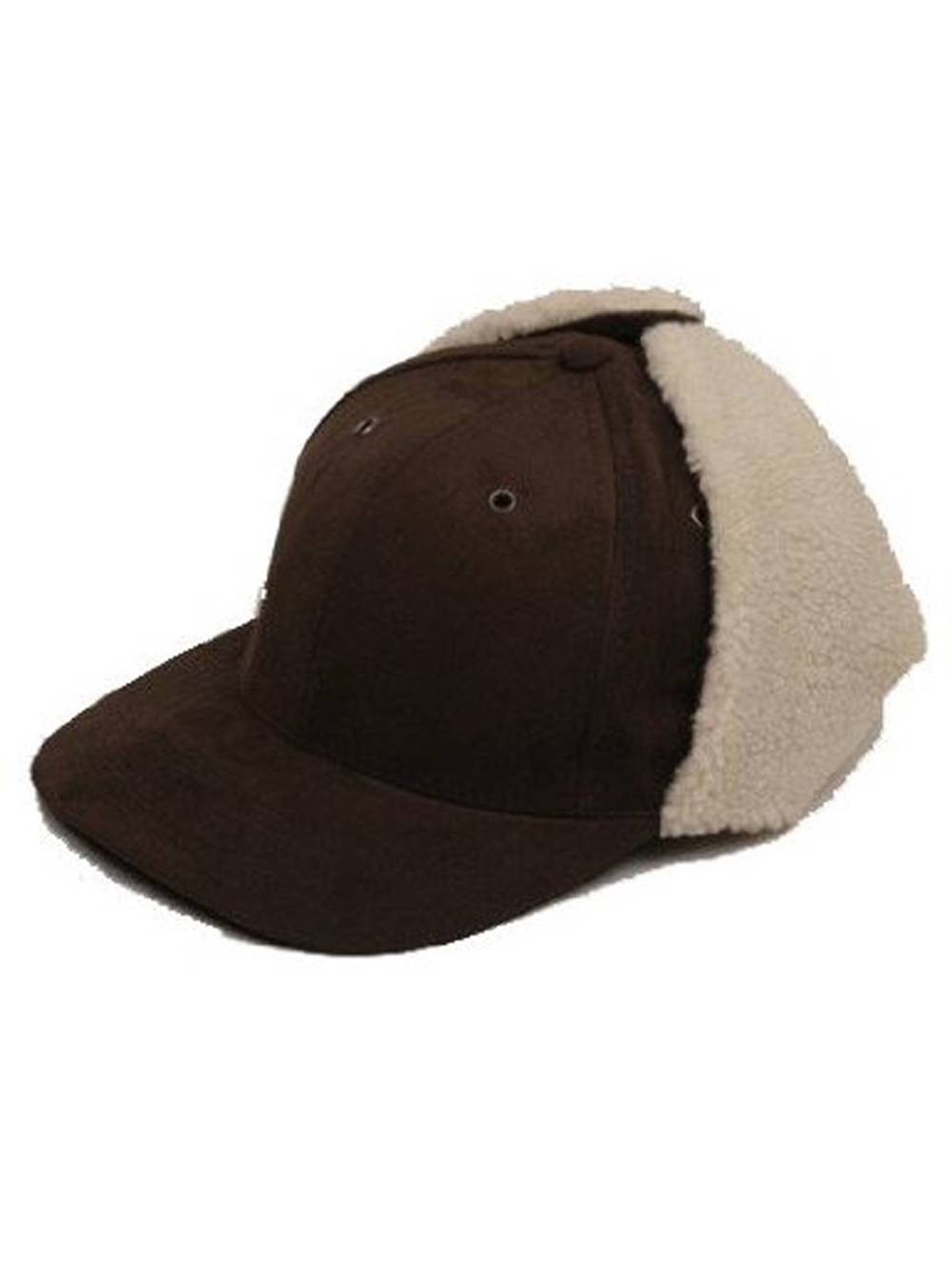 c93418e33 Blank Apparel Winter Trapper Cotton Fur Flap Hunting Hat - Large/XL, Brown