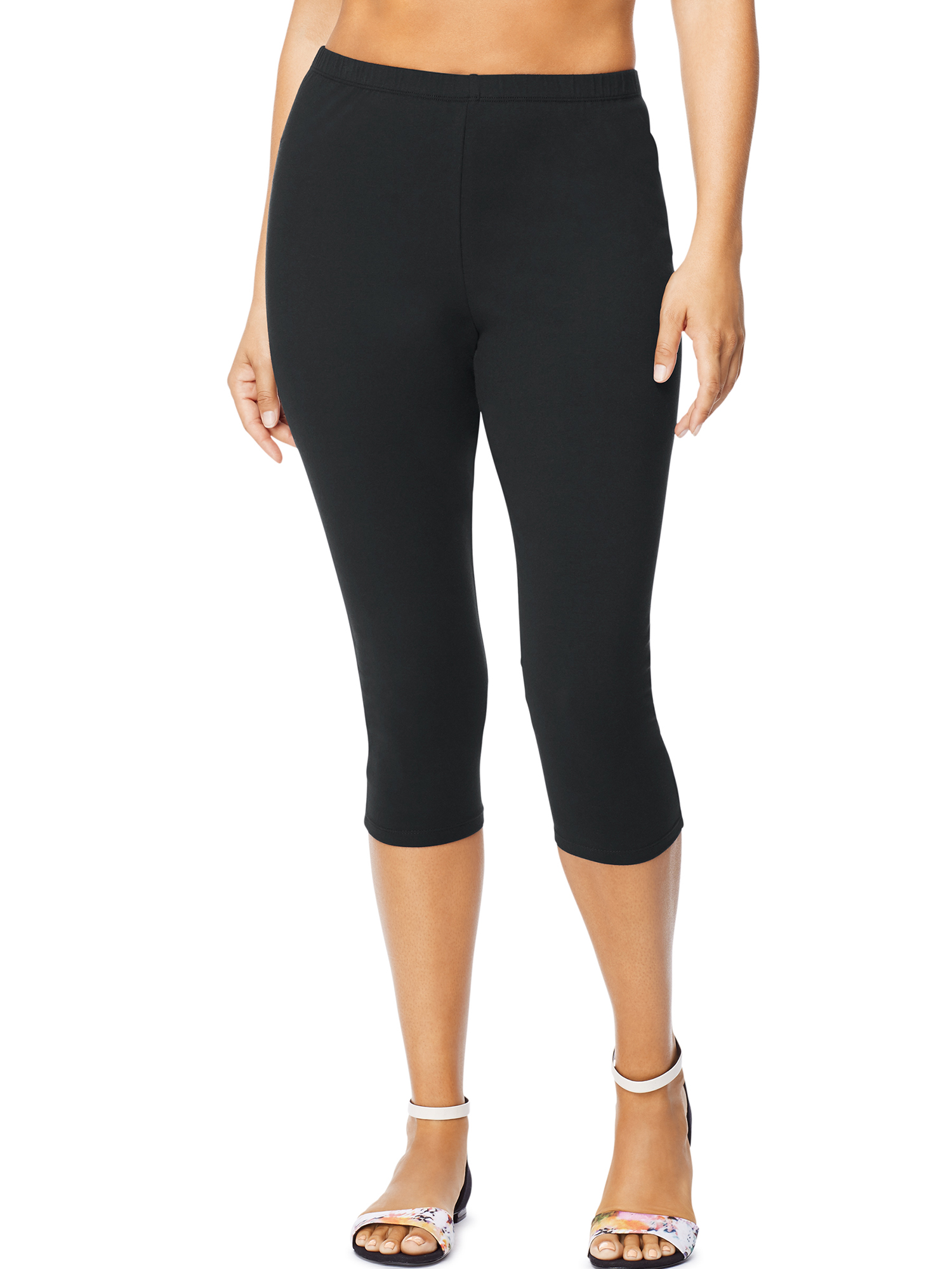 Women's Plus-Size Stretch Jersey Capri Legging