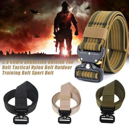 OUTAD Men's Cobra Tactical Belt Nylon Belt Security Multi-Function Belt Armed Belt black - image 8 of 8