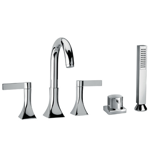 Jewel Faucets J17 Bath Series Two Blade Handle Roman Tub ...