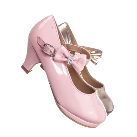 1-Dana62K by Forever Link, Girl Kids Round Toe Mary Jane Dress Pump w Platform. Children Shoes
