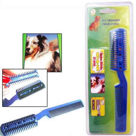 Pet Dog Cat Hair Trimmer With Comb   2 Razor Cutting Grooming Cut Care New Save