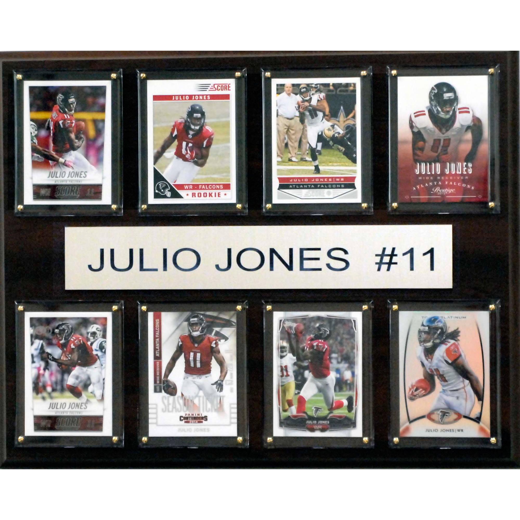 C&I Collectables NFL 12x15 Julio Jones Atlanta Falcons 8-Card Plaque