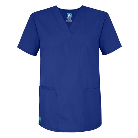 Universal Basics by Adar Unisex V-Neck Tunic Solid Scrub Top