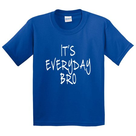 New Way 764   Youth T Shirt Its Everyday Bro Jake Paul Team 10 Small Royal Blue