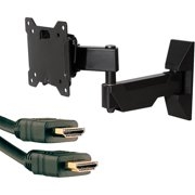 """Omnimount OC40FMX 13""""-37"""" Classic Series Full-Motion Mount with Dual Arm and Axis 41204 High-Speed HDMI Cable with Ethernet, 9'"""