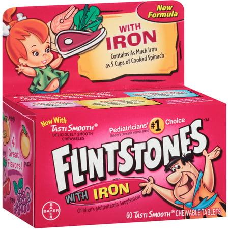 Flintstones multivitamines avec fer, Croquer, 60 CT (Pack de 3)
