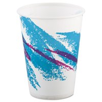 Dart R9N-00055 Jazz Waxed Paper Cold Cups, 9oz, Tide Design, 100/pack, 20 Packs/carton