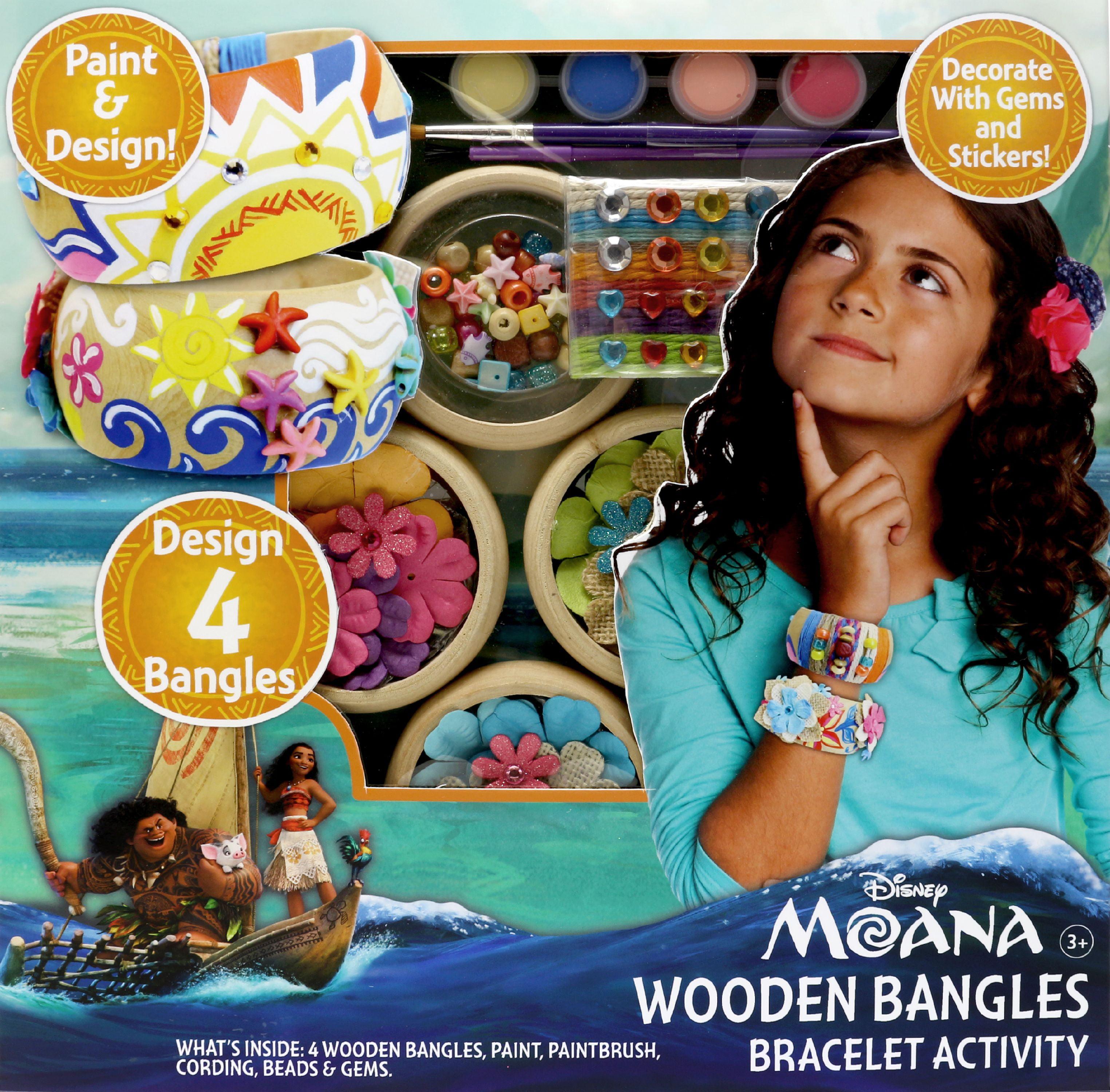 Disney Moana Wooden Bangles Bracelet Activity by Tara Toys