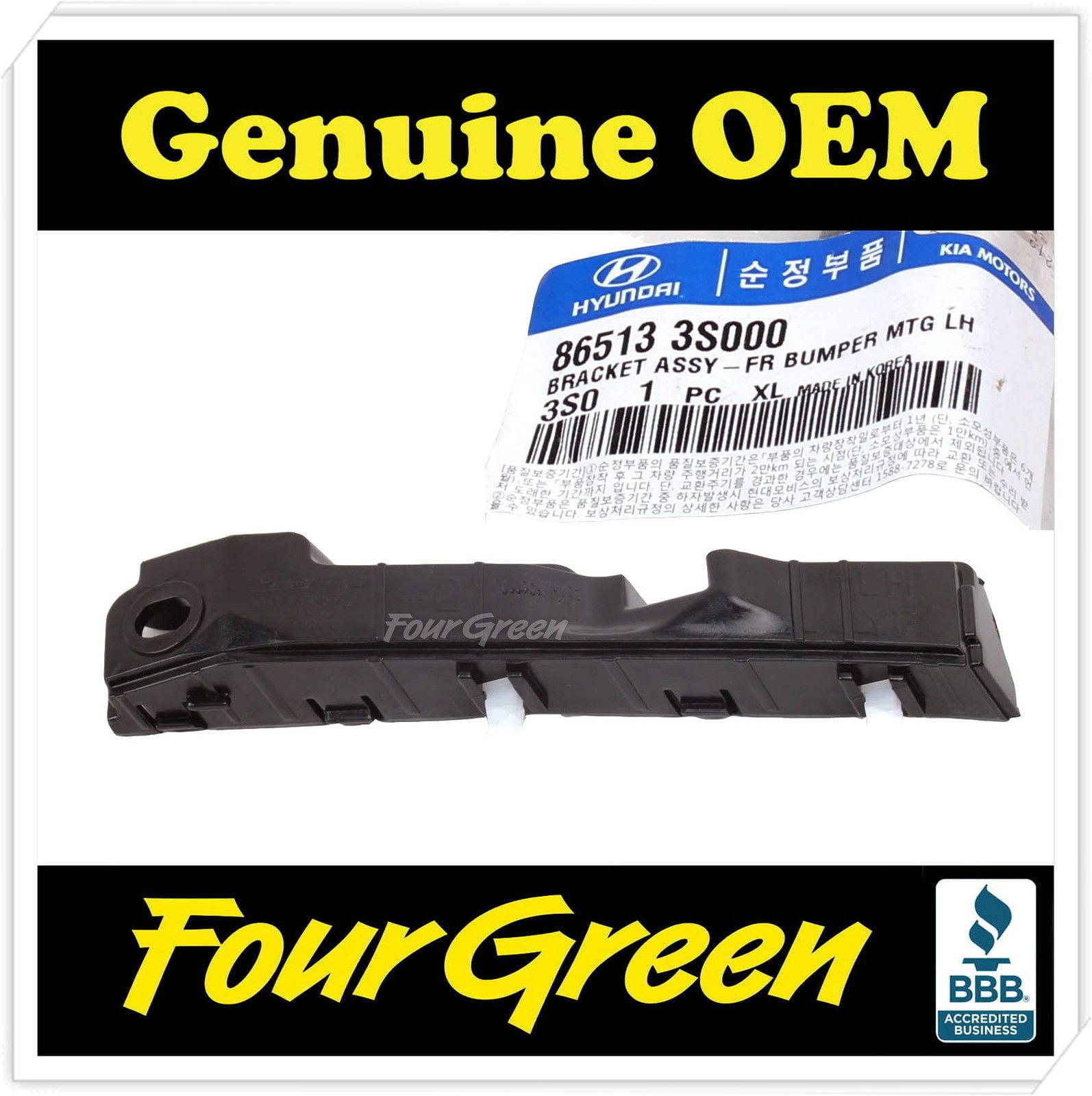 Genuine Front left side bumper bracket for Sonata 2011-2014 OEM [865133S000]
