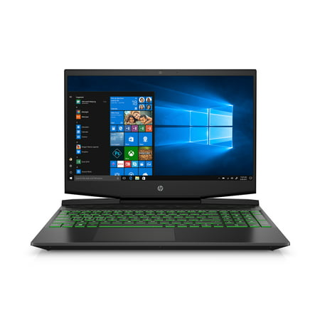 "HP Pavilion 15.6"" FHD Gaming Laptop, Intel Core i7-9750H, NVIDIA GeForce GTX 1650 4GB, 8GB RAM, 256GB SSD, Shadow Black w/ Acid Green Backlit Keyboard, 15-dk0055wm"