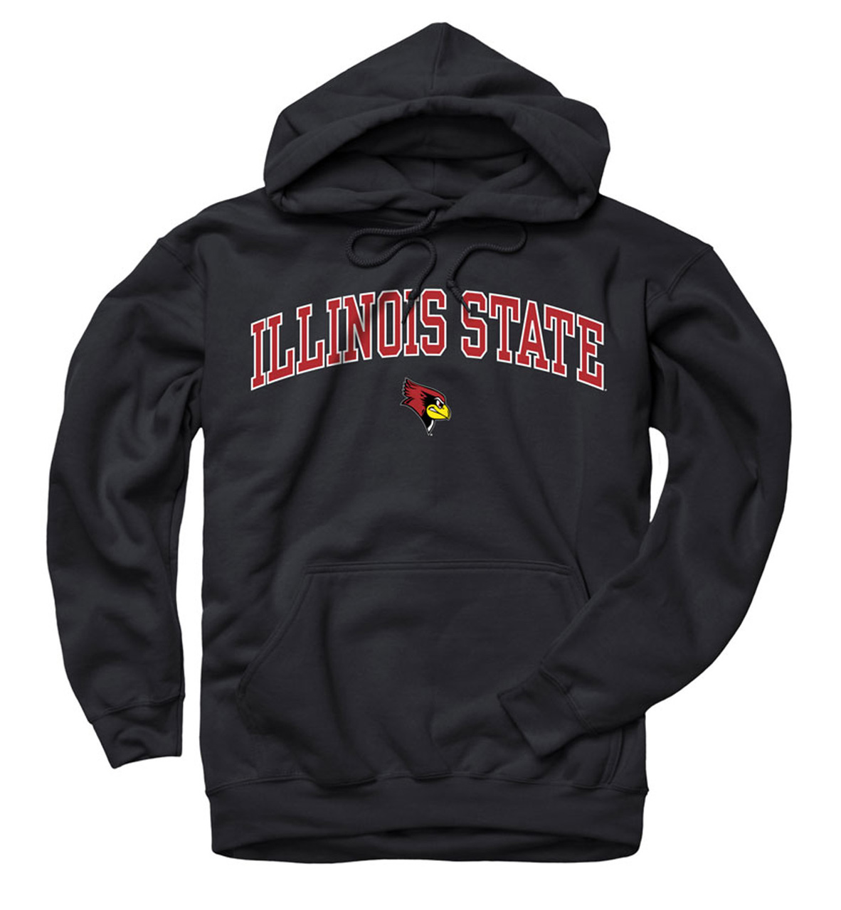 Illinois State Redbirds Arch and Logo Hooded Sweatshirt - Black