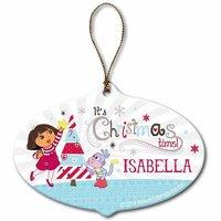 Personalized Dora the Explorer Christmas Time Ornament