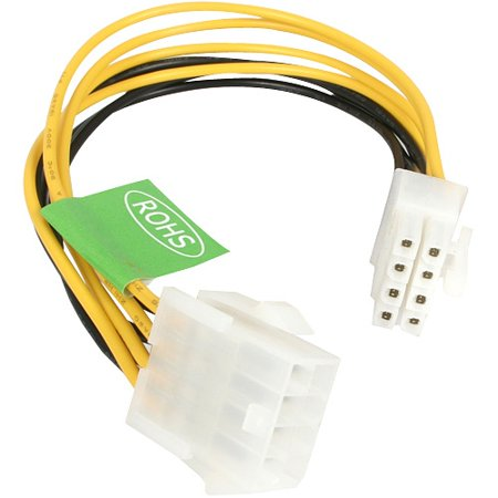 8in Drive Locking Extension - StarTech 8in EPS 8 Pin Power Extension Cable - 8